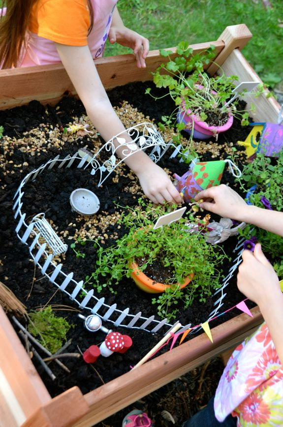 The best kids craft projects, via We-Are-Scout.com: make a fairy garden table.