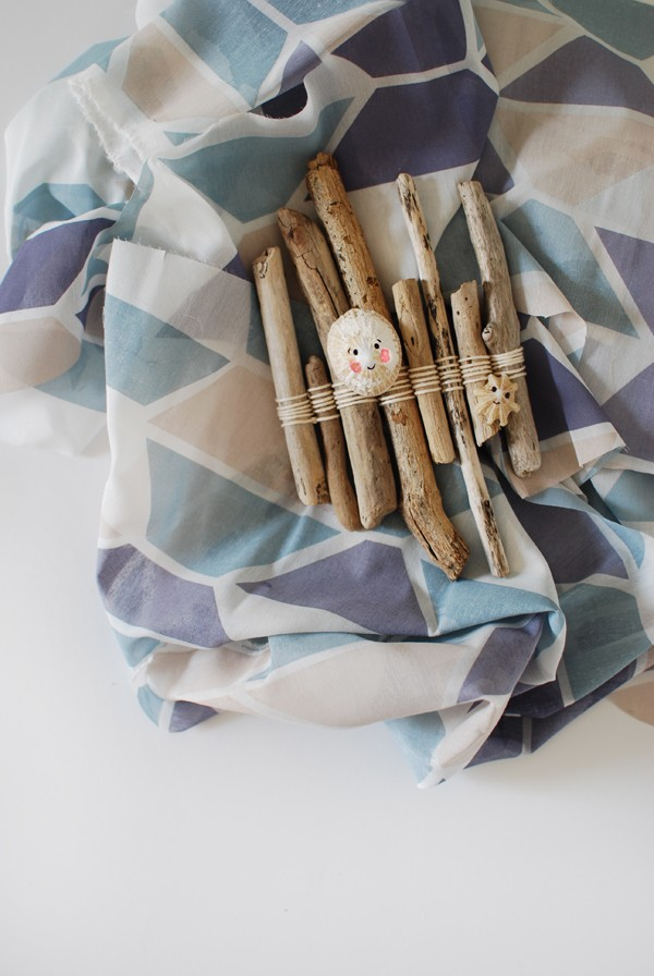 The best craft projects to make with kids, via We-Are-Scout.com: driftwood raft.