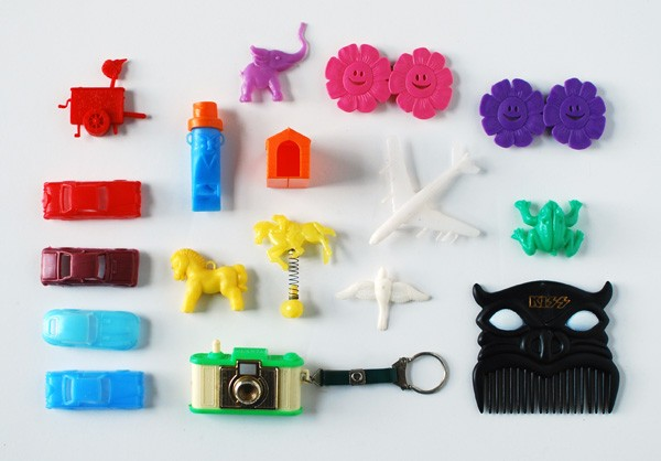 A colourful collection of 70s miniature toys and figurines by Rebecca Lowrey Boyd/We Are Scout. Photo: Lisa Tilse for We Are Scout