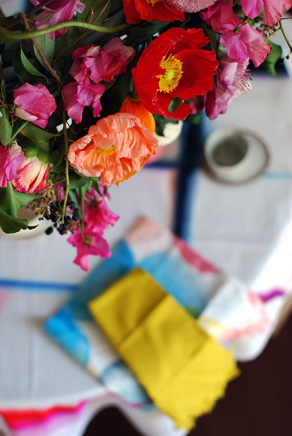 If you love the idea of adding a touch of theatre when you're throwing a party - like a special birthday, engagement, or baby shower - but can't afford expensive decorators or florist-created arrangements, it's easier than you think to DIY. Photo: Lisa Tilse for We Are Scout