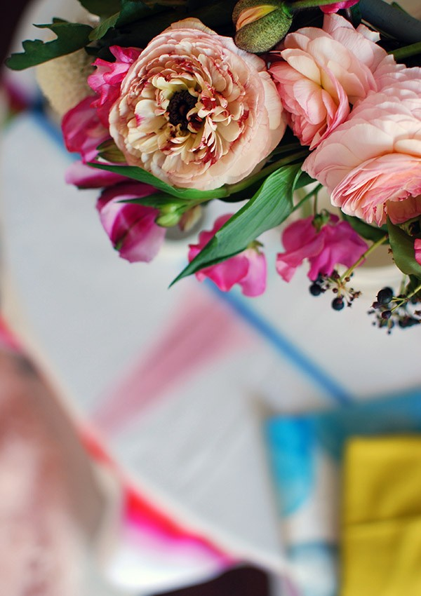 Beautiful details from our DIY flower chandelier. Photo: Lisa Tilse for We Are Scout