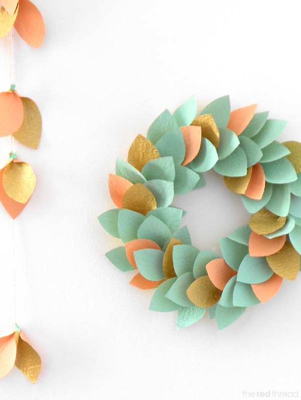 Make a paper wreath by Lisa Tilse for We Are Scout.