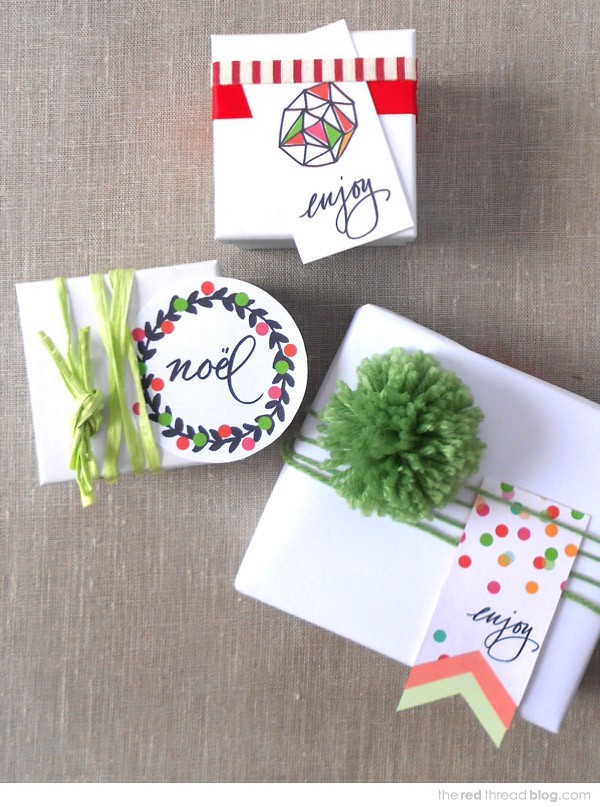 Make your own colouring Christmas tags by Lisa Tilse for We Are Scout.