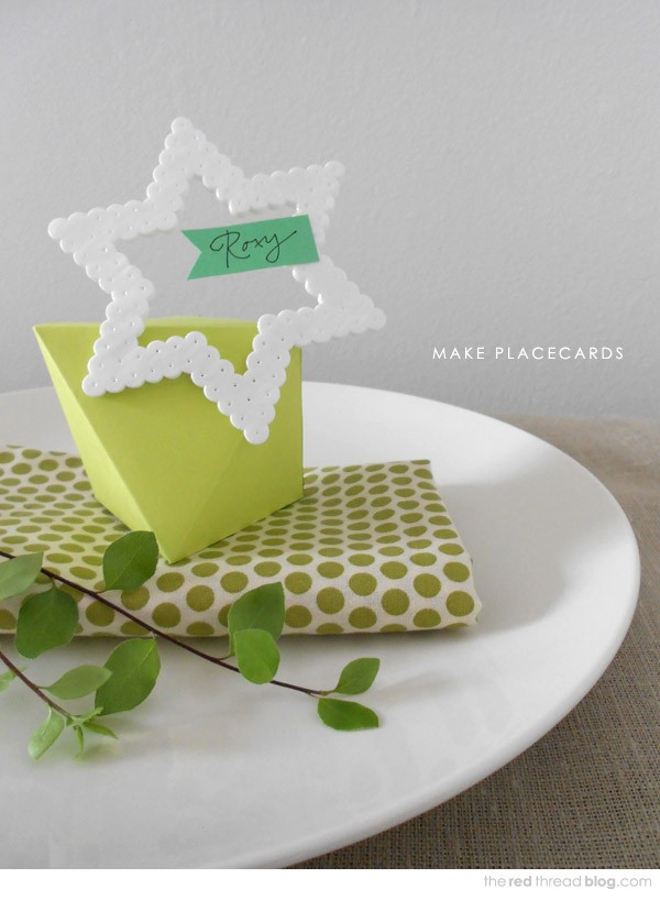 Make a Hama Bead Place Card by Lisa Tilse for We Are Scout.