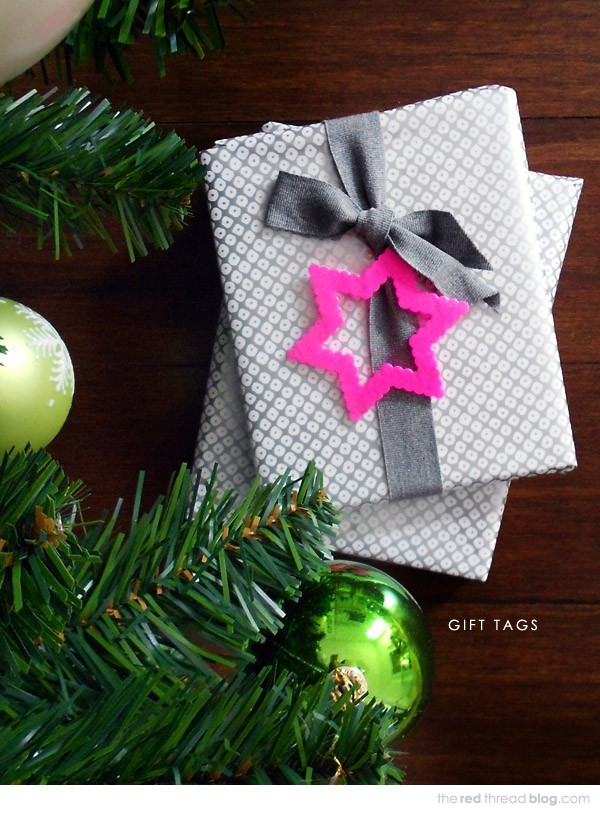 Make Hama Bead Christmas gift tags by Lisa Tilse for We Are Scout.
