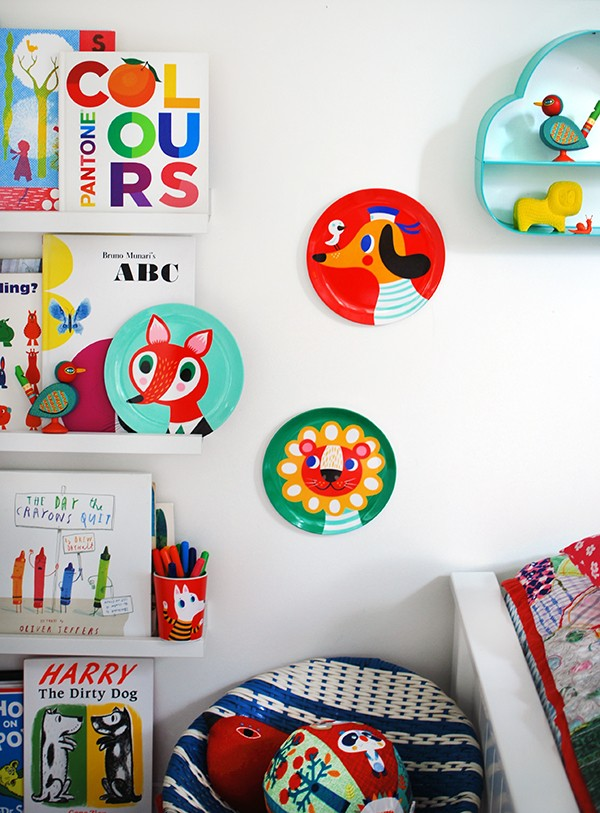 Children's melamine plates and toys from Little Citizens.