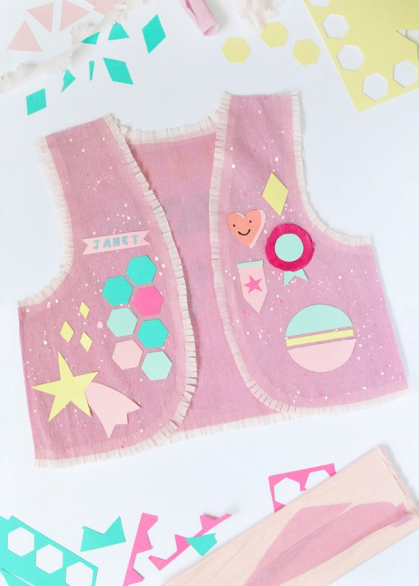 DIY Rainbow Scout Vests by Handmade Charlotte