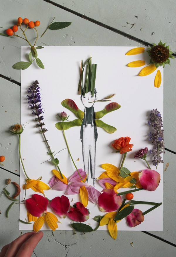 Gorgeous kids craft ideas: Make and Decorate Your Own Nature Paper Dolls by Mer Mag.