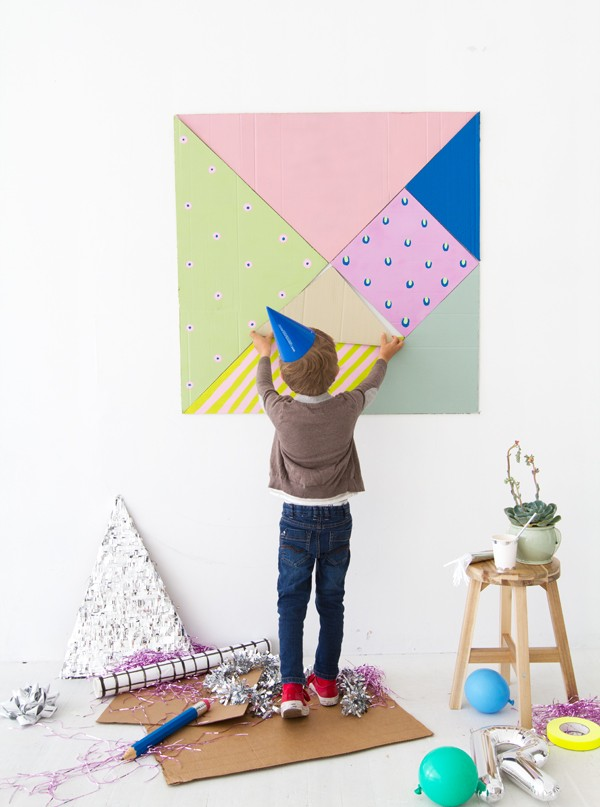 Gorgeous kids craft ideas: DIY Giant Tangram by Oh Happy Day.