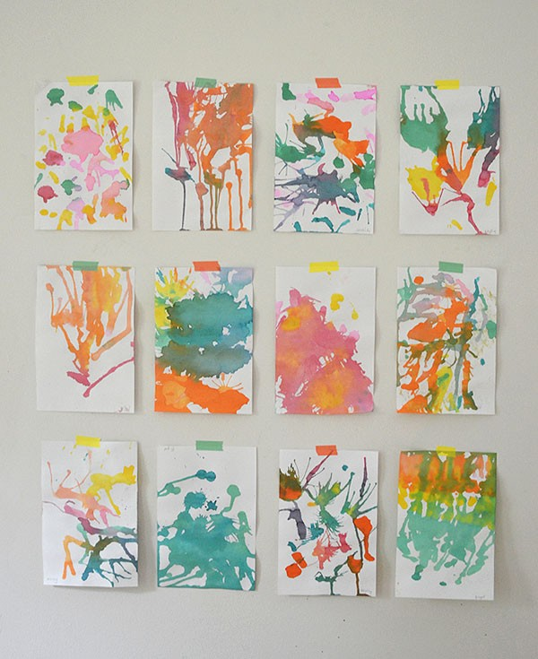 Gorgeous kids craft ideas: Blow Painting by Art Bar, inspired by The Imagination Tree's tutorial.