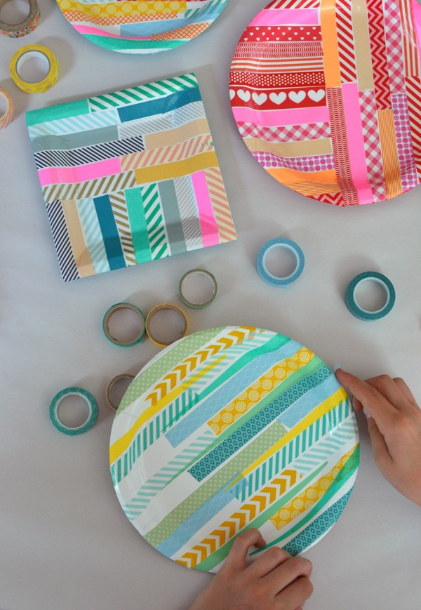Gorgeous kids craft ideas: Washi tape paper plates by The Art Bar.
