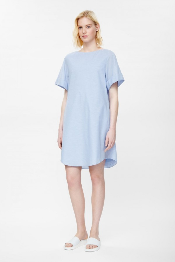 Cotton and linen dress, £69, from COS.