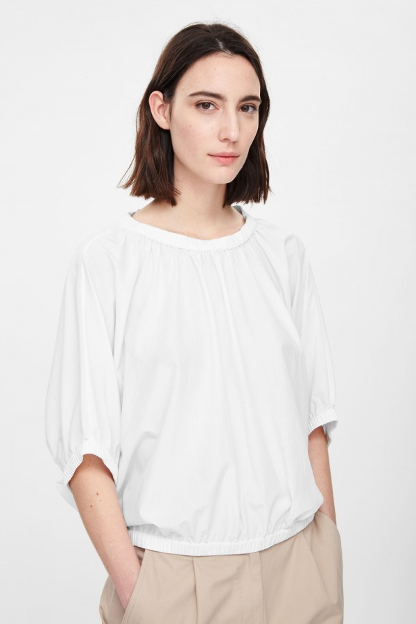 Top with gathered edges, £59, from COS.
