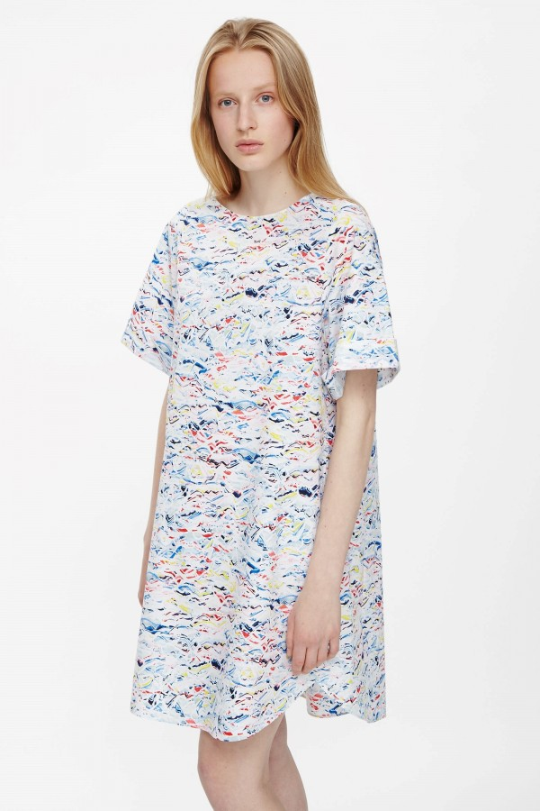 Pleat-back printed dress from COS.