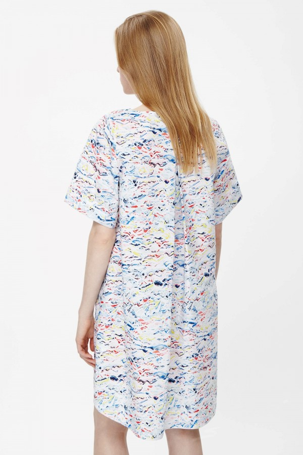 Pleat-back printed dress, £69, from COS.