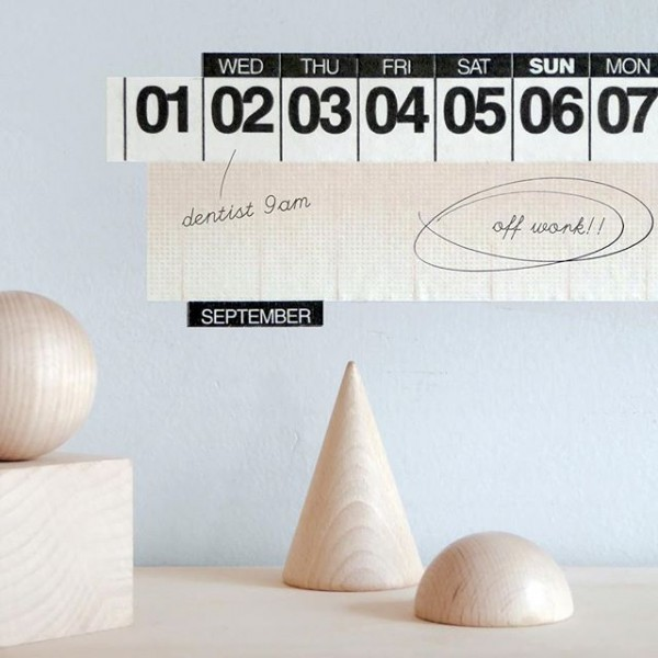 Masking Tape Calendar from Present and Correct.
