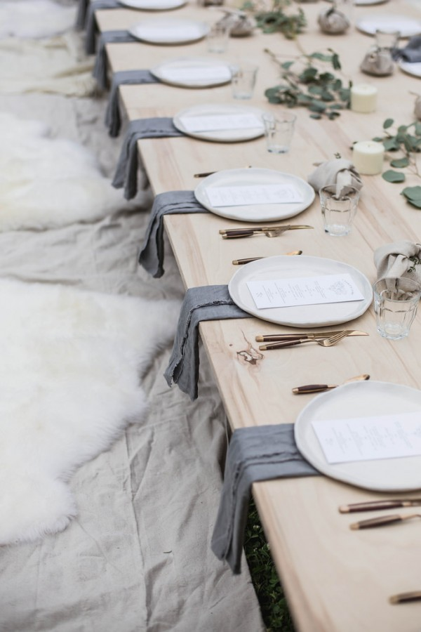 Take inspiration with this table setting from a Kinfolk dinner, via Local Milk Blog.