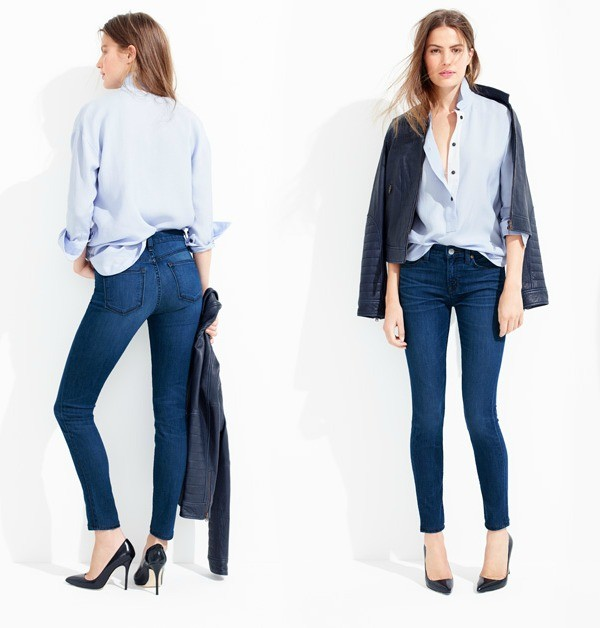 J.Crew's toothpick (ankle-length) jeans.