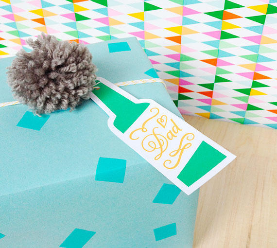 Printable beer bottle gift tags by Little White Whale.