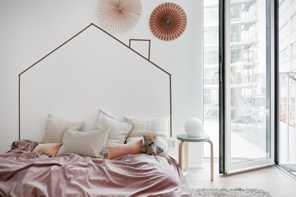 Soft pinks and nudes. Gorgeous Swedish apartment, via Fantastic Frank.