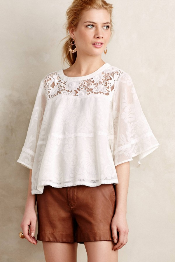 Vasanti Peasant Top by Vanessa Virginia, , from Anthropologie.