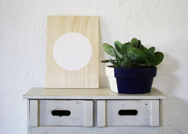 White Circle Acrylic Print on Plywood, , by Flat Rock.