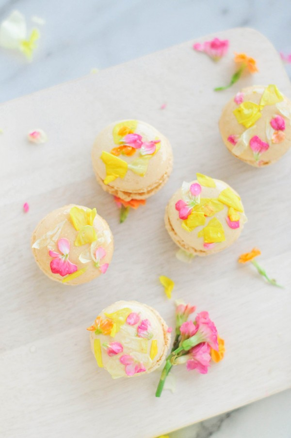 Edible Flower Macarons by Proper Blog.