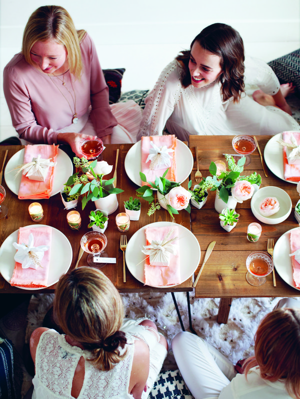 First look! How to get a new and romantic look for your next party, from Decorate for a Party by Holly Becker and Leslie Shewring, via Wee Birdy.