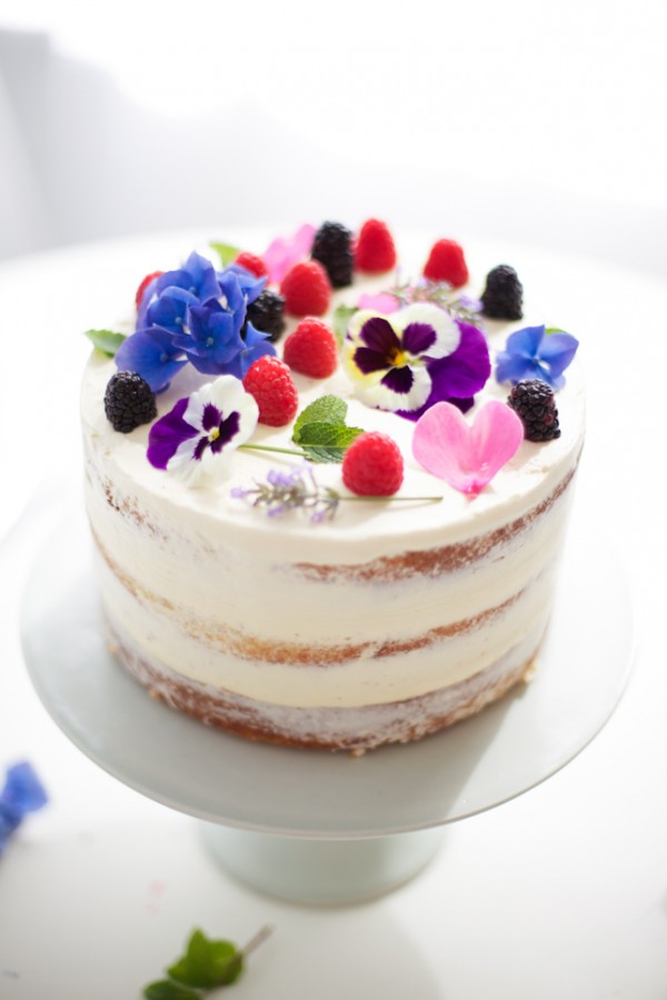 Fresh Flower Cake: How To Make A Naked Cake by Coco Cake Land