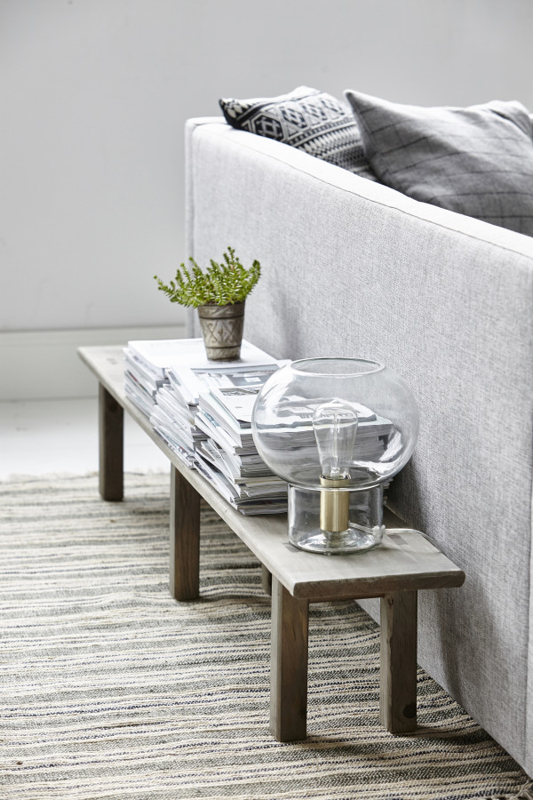 How to style a vignette inspired by Danish brand House Doctor: a living room bench.