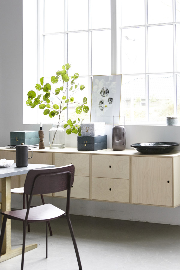 How to style a vignette inspired by by Danish brand House Doctor: the sideboard.
