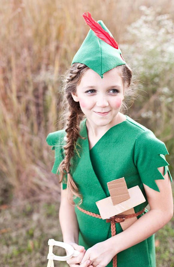 DIY Peter Pan costume by A Beautiful Mess.