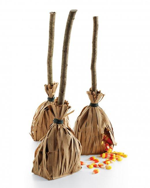 Witches broom favours by Martha Stewart.