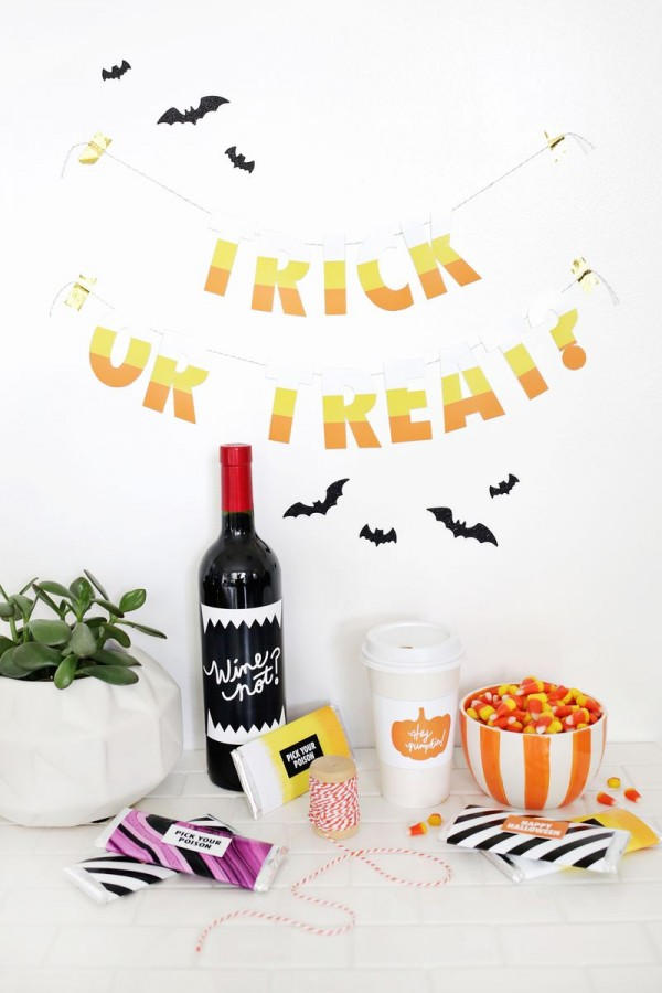 Halloween gift printables by A Beautiful Mess.