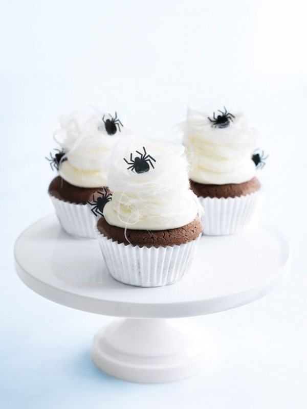 Halloween cobweb cupcakes by Donna Hay.