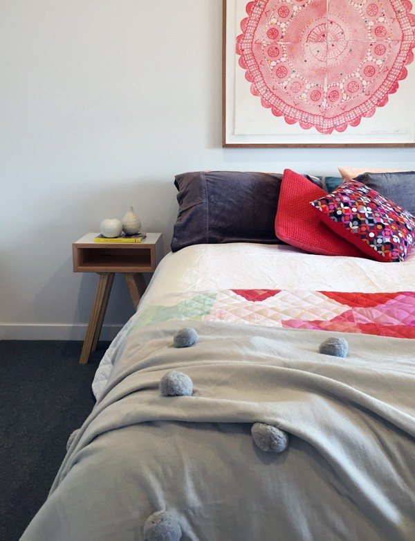 The spare bedroom in Lauren and Matt Wilson's Geelong home for Open for Inspection with Inside Out magazine via We-Are-Scout.com.