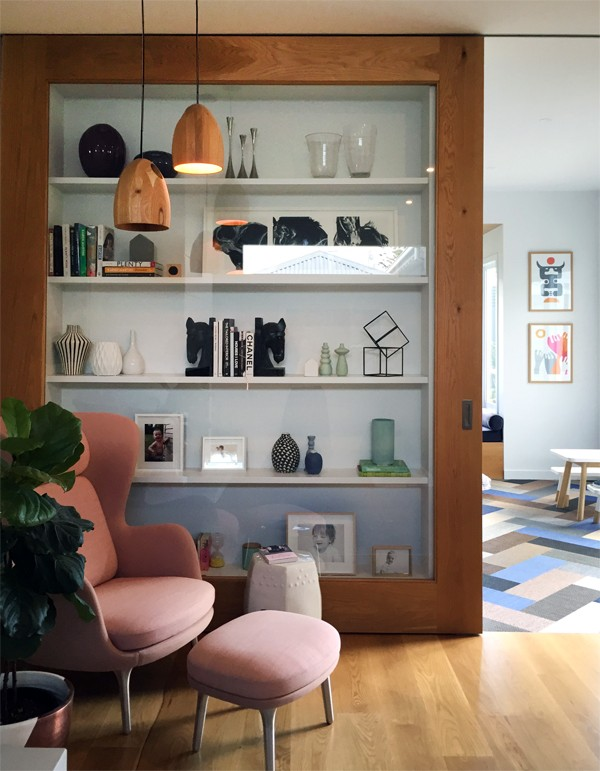 The living room of Lauren and Matt Wilson's Geelong home for Open for Inspection with Inside Out magazine via We-Are-Scout.com.
