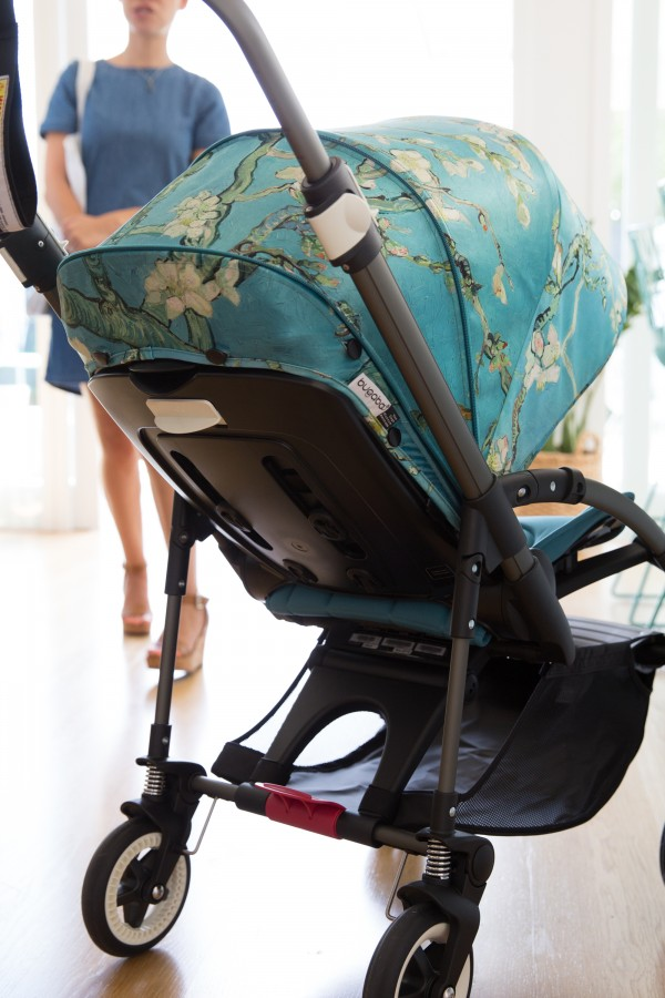 Bugaboo Bee 3 + Van Gogh collection stroller at Inside Out Open for Inspection, via we-are-scout.com.