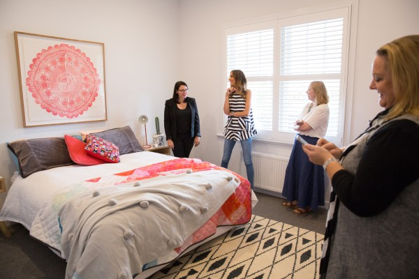 Spare bedroom at Open for Inspection with Inside Out magazine via We-Are-Scout.com.