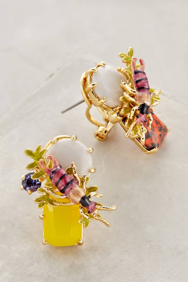 Sunshine Studs by Les Nereides from Anthropologie.