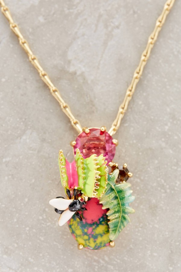 Subtropical pendant necklace by Les Nereides from Anthropologie.