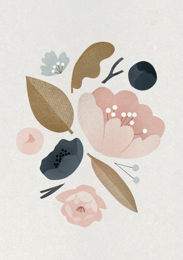 Peonies print by Clare Owen, exclusive to Howkapow. WIN via giveaway on we-are-scout.com.