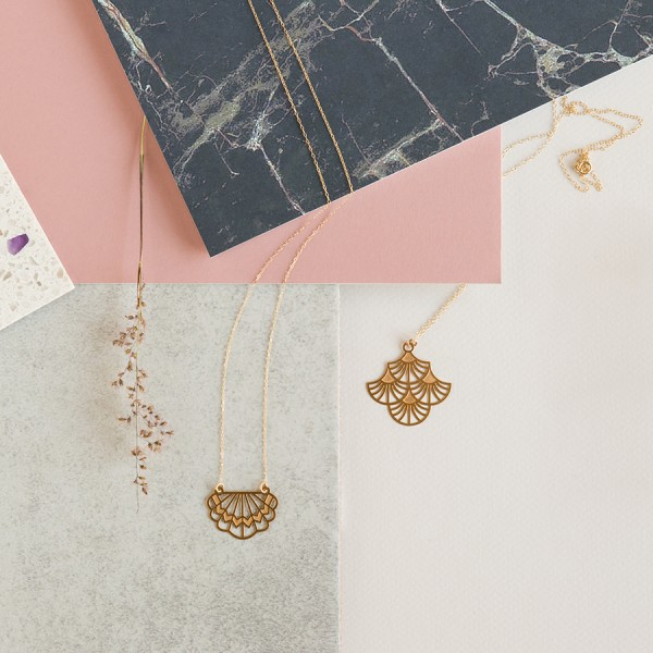 Australian jewellery brand Polli's new gold art deco collection.
