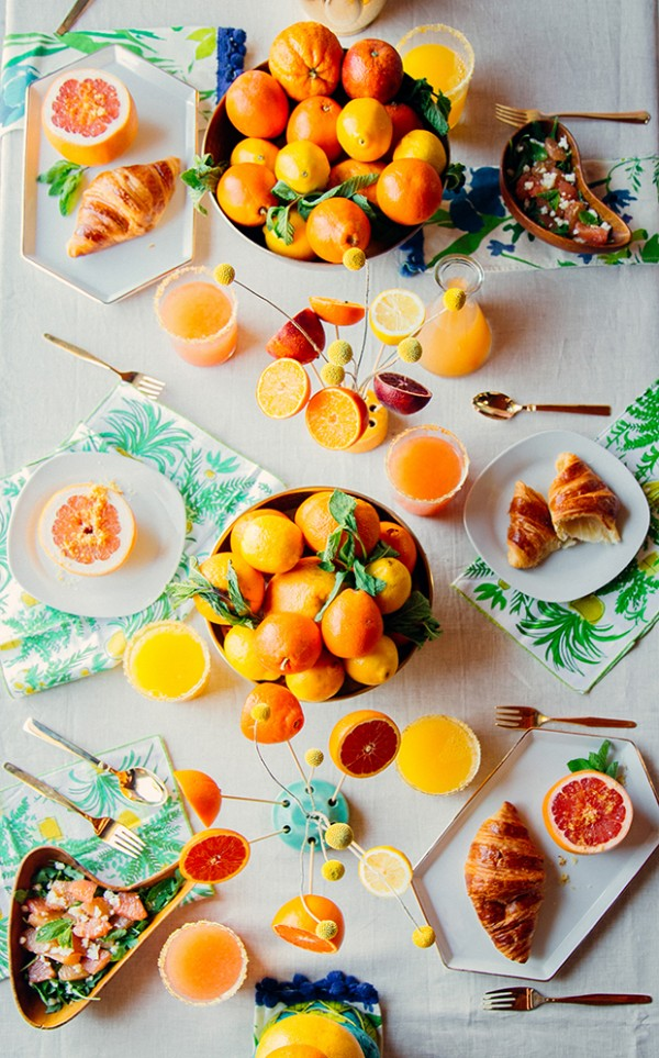 Citrus styling by the Jungalow.