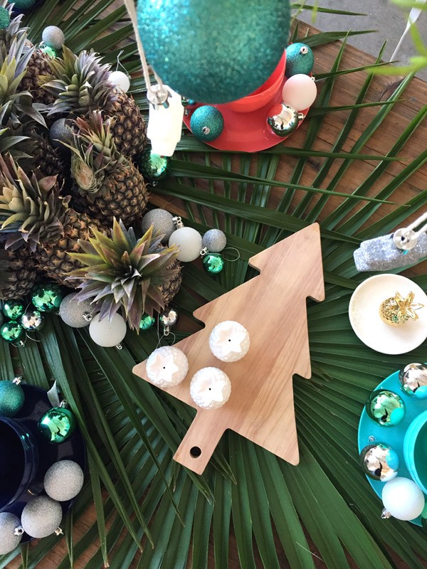 Christmas tree timber serving platter - Target Australia Christmas 2015 preview.