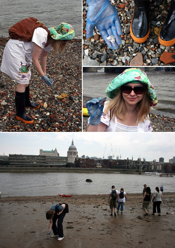 Beachcombing the Thames for ancient finds - Rebecca Lowrey Boyd/ We Are Scout.