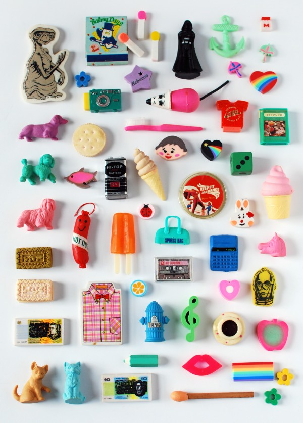 My highly-prized 1980s eraser collection. Photo: Lisa Tilse for We Are Scout