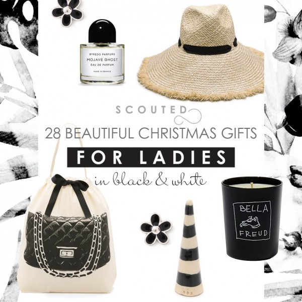 2015 Christmas Gift Guide: 30 Beautiful Christmas Presents for Ladies - in black and white.