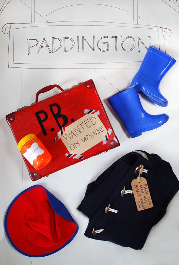 What you need for a Paddington bear costume. Photo: Lisa Tilse for We Are Scout