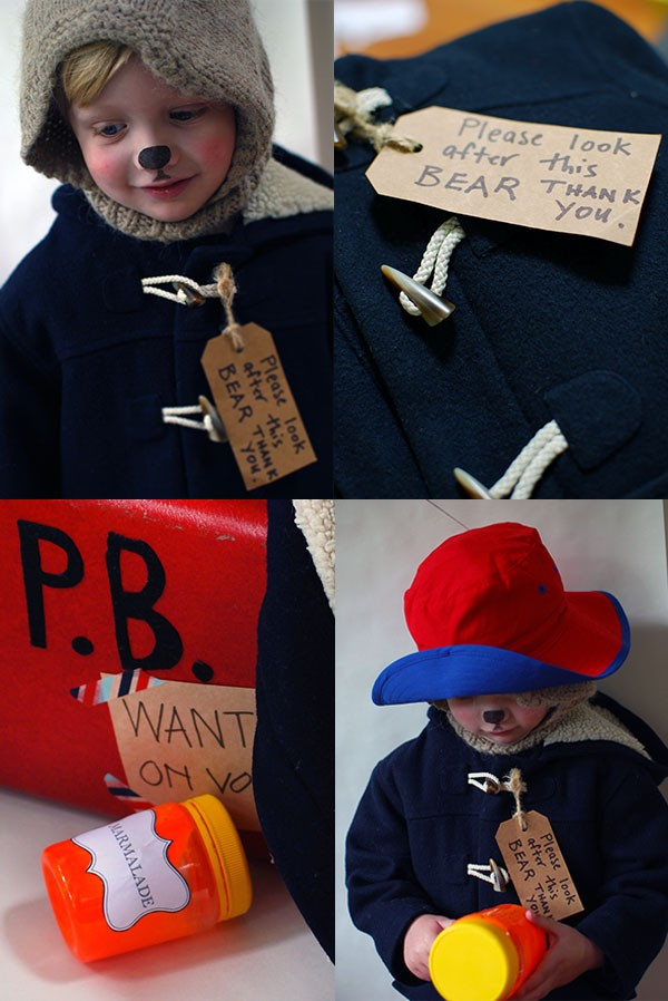 Adorable little Paddington Bear - a great last-minute costume for Halloween or Book Week. No sewing! Photo: Lisa Tilse for We Are Scout